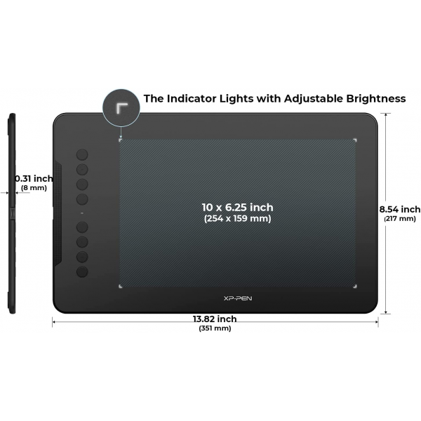 XP-PEN Deco 01 V2 Graphics Drawing Tablet with8192 Levels Pressure Battery-Free Pen