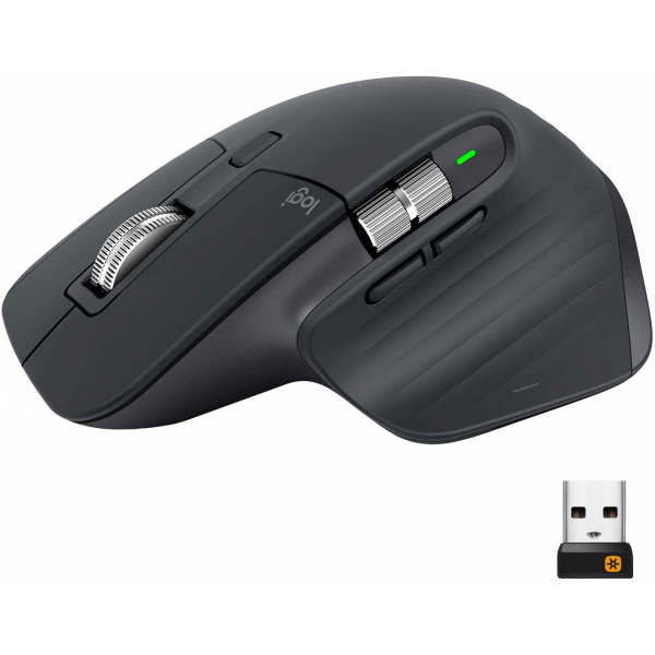Logitech MX Master 3 Advanced Rechargeable Wireless Mouse, Bluetooth 7 Button