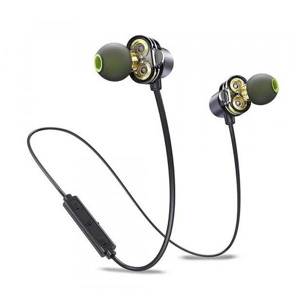 Awei X650BL Bluetooth Dual Driver Magnetic in-Ear Earphone with Microphone Line Control