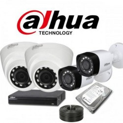 Dahua A complete (HD) 1080P 4 Camera installation Kit