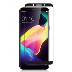 Oppo F5 3D Tempered Full Glass Screen Protector - Clear