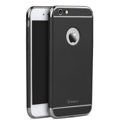 iPaky Chrome 3 Piece Hybrid Protective Back Case Cover for Apple iPhone 6/6S  - Black