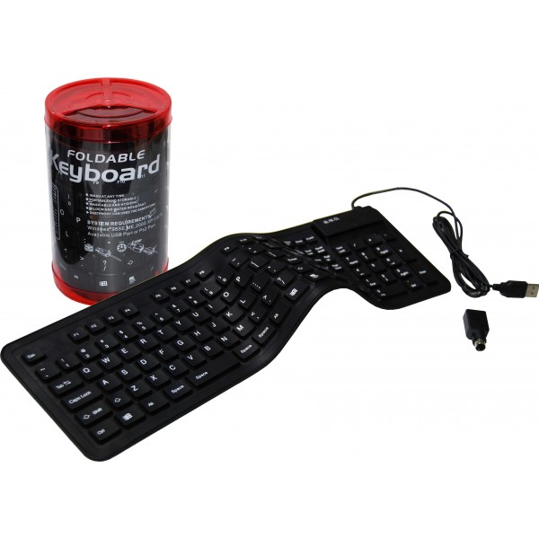 Flexible and Foldable  USB Keyboard