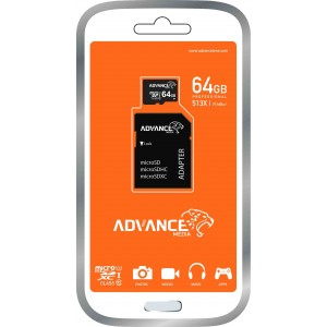Advance microSD Memory Card - 64GB - Black