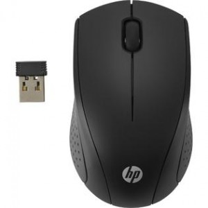 HP  2.4GHz - Wireless Optical Mouse with USB Receiver - Black