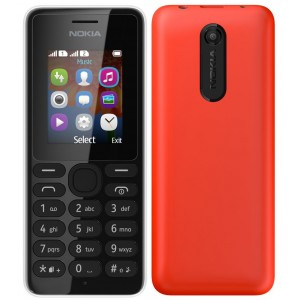 Nokia 108 Dual SIM, Black and Red