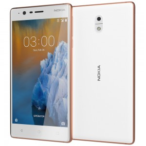 "Nokia 3 – 5"" - 16GB ROM – 2GB RAM – 8MP Camera – Dual SIM – Copper White"