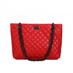 Women's Chain PU Crossbody Bag Solid Color