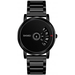 Skmei Simple Style Mens Watch Stainless Steel Band 1260 – Black