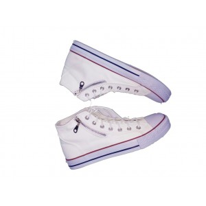 Allstar Classic Sneakers With Side Zip -White