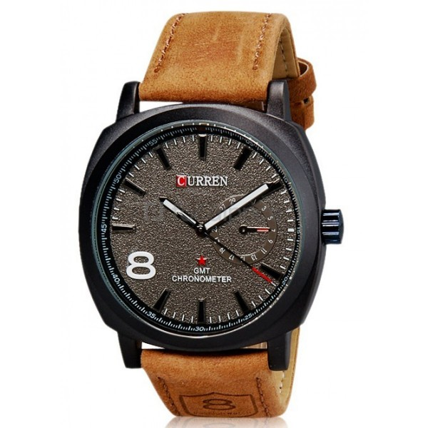 Curren 8139 Analogue Black Dial unisex Watch